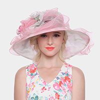 Organza Floppy hat With Adjustable Band