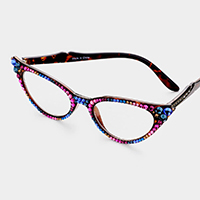 Crystal Cat Eyes Reading Glasses