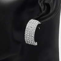 Crystal Pave Post Earrings