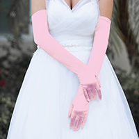 Dressy Satin Long Wedding Gloves