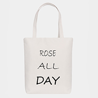 'Rose All Day' Cotton Canvas Eco Tote Bag