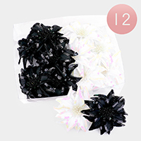 12PCS  - Sequin Hair Bands / Hair Pins / Brooches