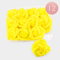 12 PCS - Flower Hair Bands / Hair Pins / Brooches