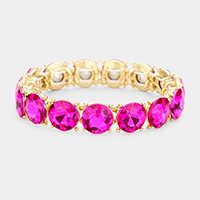 Crystal Round Stretch Evening Bracelet