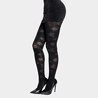 Floral Pattern Lace Pantyhose Tights