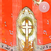 6PCS - Silk Feel Striped Church Bible Print Scarf