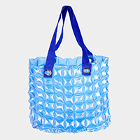 Inflammable Clear Bubble Tote Bag
