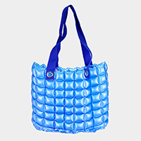 Inflatable Matte Bubble Tote Bag