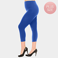 Solid Seamless Capri Leggings