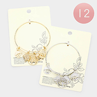 12PCS - Filigree Metal Tree of Life Charm Bracelets
