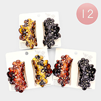 12PCS - Celluloid Acetate Claw Clip