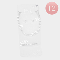 12PCS - Faux Pearl Necklace Sets