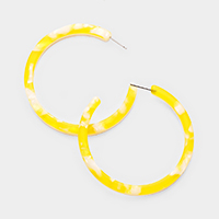 Celluloid Acetate Open Circle Earrings