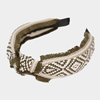 Patterned Fabric Knotted Headband