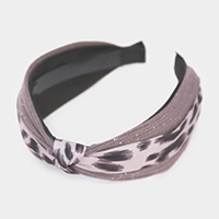 Leopard Pattern Knotted Headband