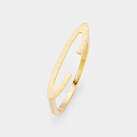 'C' Monogram Brass Metal Ring