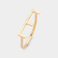 'E' Monogram Brass Metal Ring