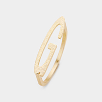 'G' Monogram Brass Metal Ring