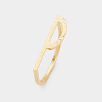 'P' Monogram Brass Metal Ring