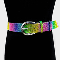 Shimmery Cord Chain Closure Belt