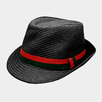 Color Block Ribbon Detail Fedora