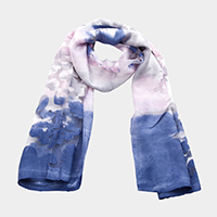 Floral Print Light Oblong Scarf