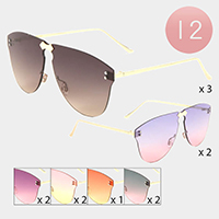 12PCS - Flameless Gradient Aviator Sunglasses