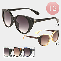 12PCS - Celluloid Acetate Cat Eye Sunglasses