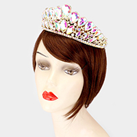 Crystal Teardrop Accented Pageant Queen Tiara