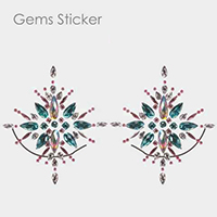 Crystal Teardrop Body Jewelry Gem Sticker With Glitter
