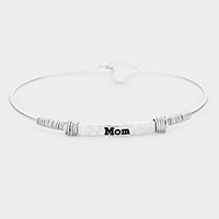 'Mom' Metal Wire Wrapped Hook Bracelet