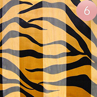 6PCS - Satin Striped Zebra Pattern Print Scarf