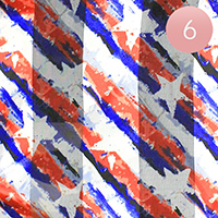 6PCS - Satin Striped American Flag Pattern Print Scarf