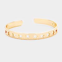 Cut Out Star Metal Cuff Bracelet