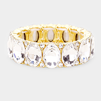 Crystal Oval Stretch Evening Bracelet