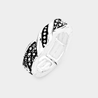 Pattern Embossed Metal Stretch Ring