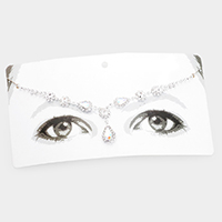 Floral Crystal Teardrop Accented Head Chain