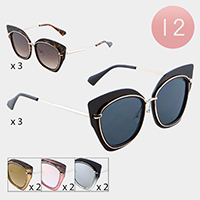 12PCS - Cat Eye Frame Sunglasses