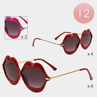 12PCS - Lips Frame Sunglasses