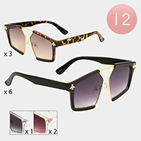 12PCS - Honey Bee Accented Head Turner Sunglasses