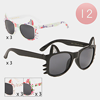 12PCS - Cat Frame Kids Sunglasses