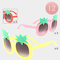 12PCS - Pineapple Frame kids Sunglasses