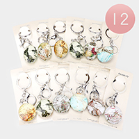 12PCS - World Map Globe Key Chains
