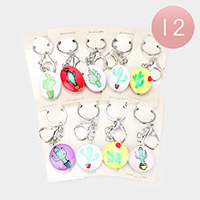 12PCS - Cactus Print Key Chains
