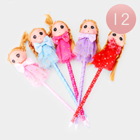 12PCS - Cute Doll Ball Pens