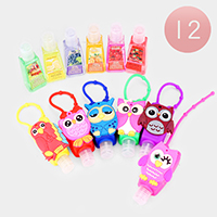 12PCS - Hand Sanitizer with Owl Silicone Holders