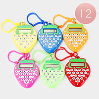12PCS - Strawberry Mini Calculators