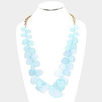 Abstract Celluloid Acetate Cluster Necklace