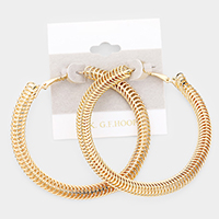 14K Gold Filled Coil Metal Hoop Earrings