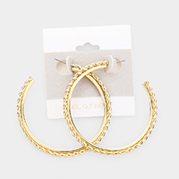 14K Gold Filled Twist Metal Hoop Earrings